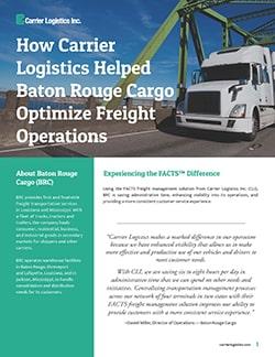 CLI Case Study - Baton Rouge Cargo